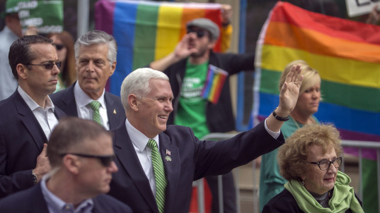 Crowds stay home for Pence parade in Ga.