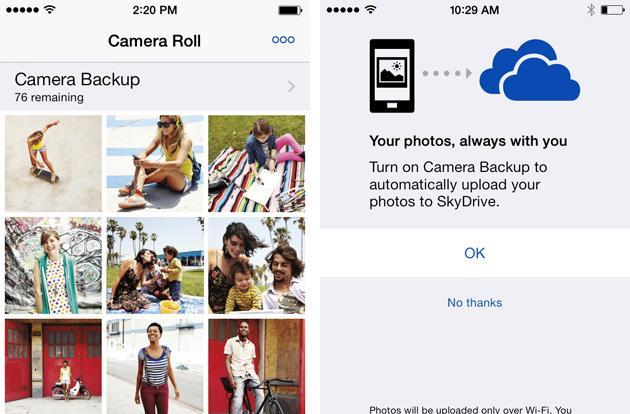 SkyDrive gets camera backups on iOS, Facebook previews on the web (video)
