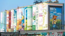 南韓仁川貨倉變身巨型壁畫 創世界紀錄