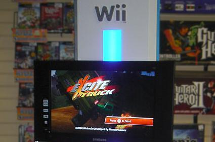 Another Wii demo kiosk in the wild documented