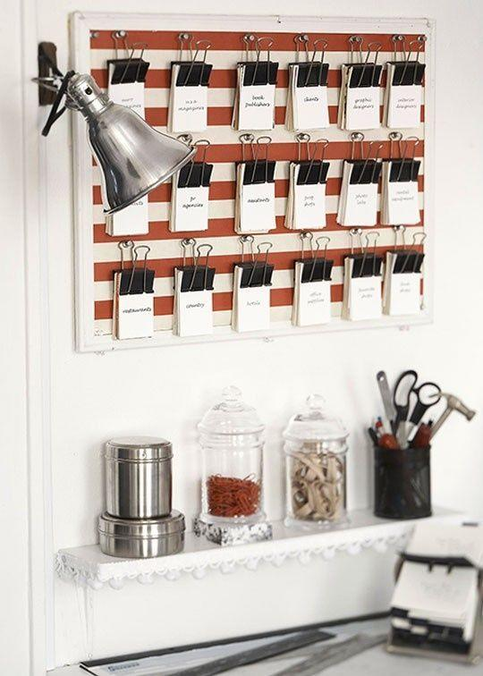 """<p>Got binder clips? How about a bulletin board and a handful of push pins? Put 'em together to make a flash card station in, well, a<i> flash</i>. (Credit: <a href=""""https://www.ohhellofriend.com/blog/"""" rel=""""nofollow noopener"""" target=""""_blank"""" data-ylk=""""slk:Oh Hello, Friend"""" class=""""link rapid-noclick-resp"""">Oh Hello, Friend</a>)</p>"""
