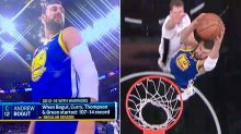 'He's back': Andrew Bogut's epic moment seconds into NBA return