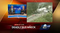 Passenger bus, semi, SUV crash on I-40 killing 8