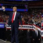 Trump kicks off re-election campaign by re-airing grievances, lashing out at Hillary Clinton, vowing to cure cancer