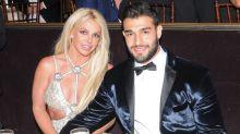 Britney Spears Keeps Cool Poolside in the Scorching Heat with Boyfriend Sam Asghari