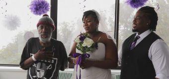 Bride surprises dad fighting leukemia