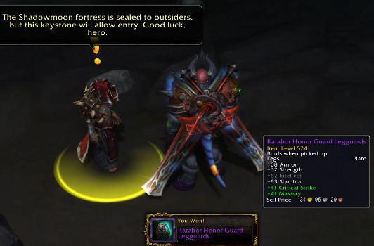 Warlords of Draenor: Random quest item upgrades