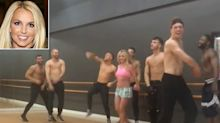 Britney Spears Teaches Sexy Moves to Aspiring Shirtless Backup Dancers Ahead of Vegas Residency