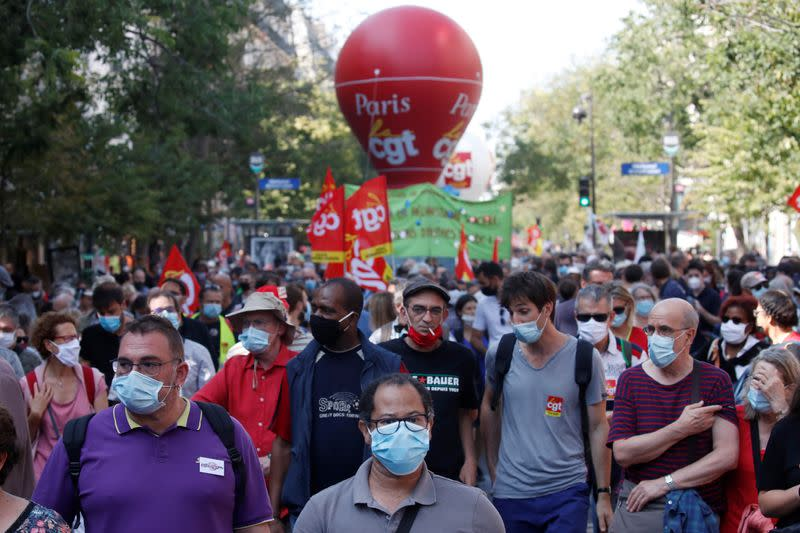 French labour unions call for a nationwide protest in France