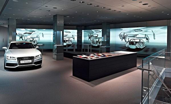 Audi dealership lets you gesticulate your way to a new car using Kinect and multitouch