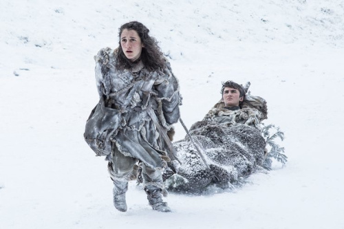 Ellie Kendrick as Meera Reed and Isaac Hempstead Wright as Bran Stark in HBO's Game of Thrones. (Photo: HBO)