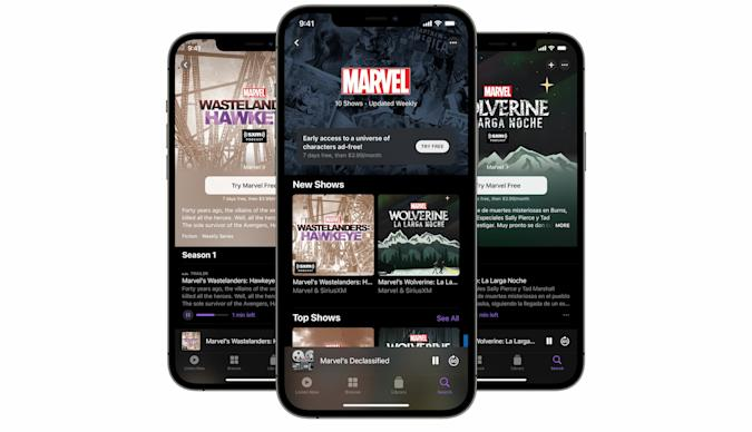Marvel podcast channel on Apple Podcasts