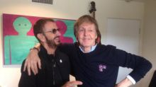 Beatles Paul McCartney and Ringo Starr reunite in the recording studio for first time in seven years