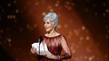 Twitter users praise Jane Fonda for embracing grey hair at the 2020 Oscars