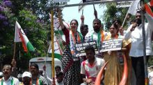 Mumbai: NCP protests on bullock carts against fuel price hike