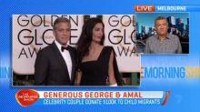 Celebrity couple donate $100k to child migrants