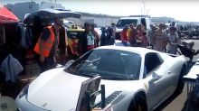£200,000 Ferrari stranded in middle of car boot sale