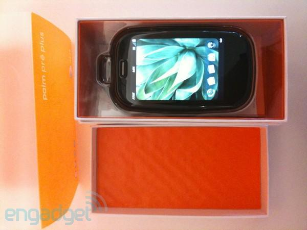 AT&T Palm Pre Plus unboxed in glorious, orange detail