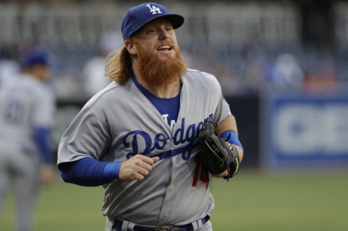 Justin Turner is smiling because he's an All-Star. (AP Photo)