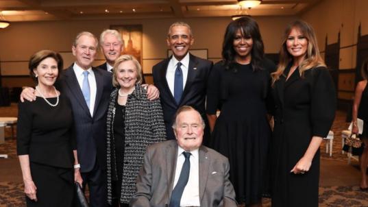 'Beautiful' moment captured at Bush memorial