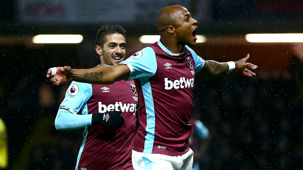 Ayew wins West Ham United's goal of the month award