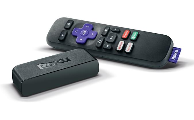 A Roku Premiere streaming box and remote control, taken on December 17, 2019. (Photo by Neil Godwin/Future Publishing via Getty Images)