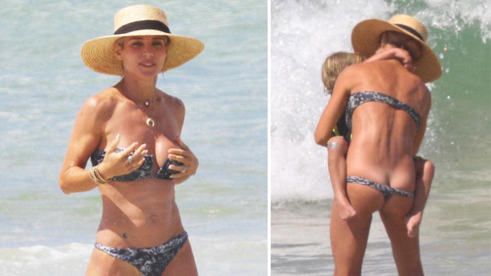 beach bikini malfunction