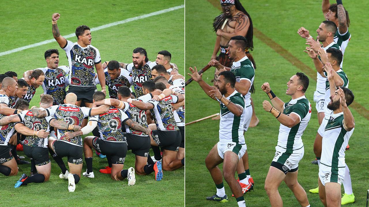 'I am crying': Fans moved by NRL All-Stars war dances
