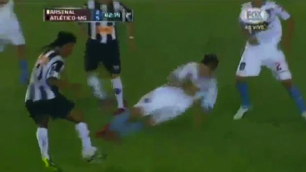 Worst football tackle ever?