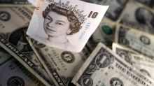 Sterling falls below $1.225, held down by Brexit, negative rates risk