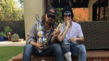 Billy Ray Cyrus gets weed and a bong for his 57th birthday from daughter's boyfriend Lil Xan