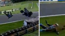 British superbike star cheats death in a 110mph crash
