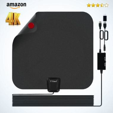 TV Antenna Indoor,HDTV Antenna TV Digital HD 4K,80 Miles Range Max,with Powerful Amplifier Signal Bo