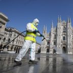 The Latest: Italy health official says nation hits 'plateau'
