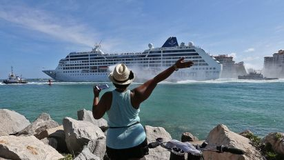 US and Cuban coast guards searching for Florida man feared to have fallen overboard a cruise ship