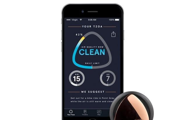 ​TZOA is a wearable that tells you where to find clean air