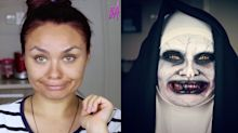 This Makeup Blogger Transformed Herself into 'The Nun' and It's Actually Terrifying