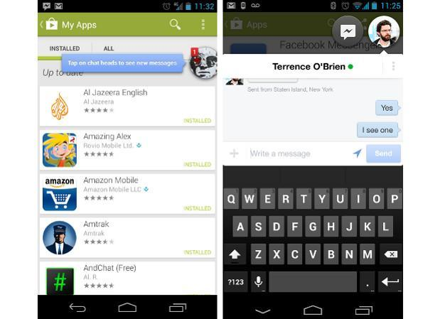 Facebook Messenger for Android updated with chat head support