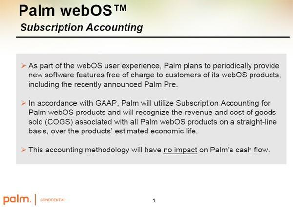 Palm's subscription accounting webOS plans revealed, CPAs rejoice