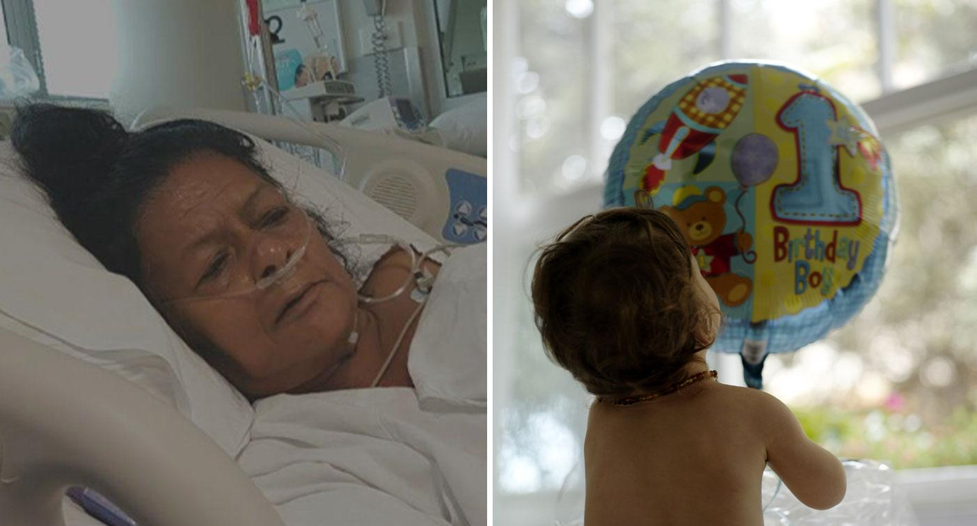 Woman struck down with illness during trip for grandson's first birthday