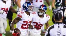 Giants' Wayne Gallman reflects on his performance Thursday against Eagles