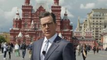 Stephen Colbert Drinks Vodka, Colludes With Russian Late Night Host