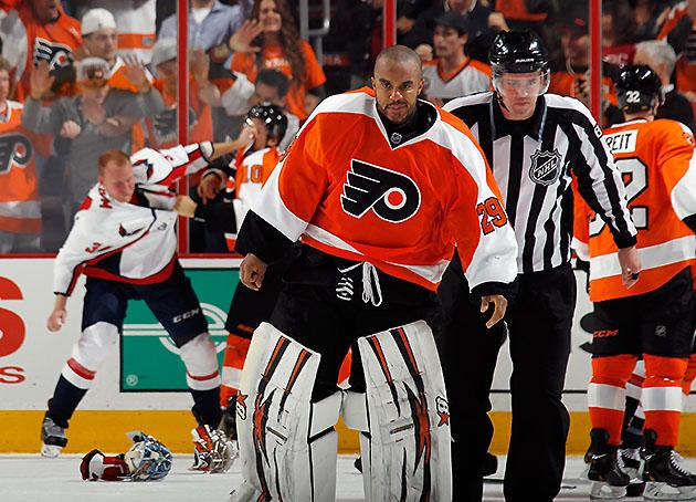 Ray Emery Blame referee Gary Bettman for Ray Emery skating on goalie assault