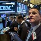 IBM shares head for biggest gain in eight years