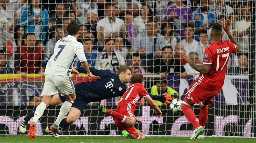Cristiano Ronaldo scores 100th Champions League goal as Real Madrid advances