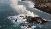 Photo: Kīlauea volcano's lava forms new land off Hawaii's coast