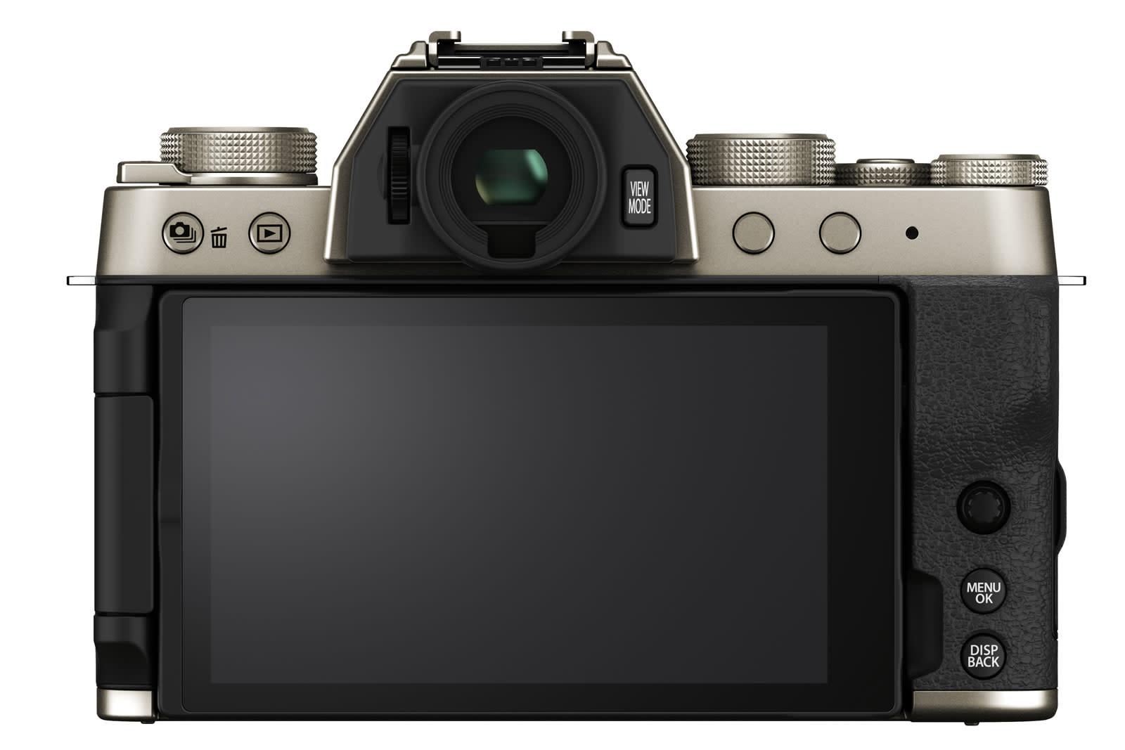 Fujifilm X-T200 mirrorless camera rear view