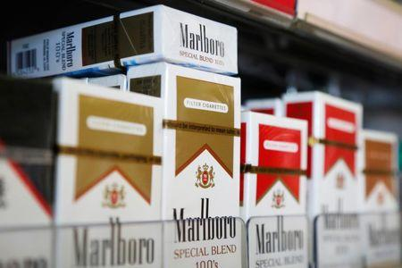 Packs of Marlboro cigarettes are displayed for sale at a convenience store in Somerville