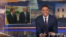 Les «late shows» américains se moquent des nombreux moments de malaise entre Trump et Macron