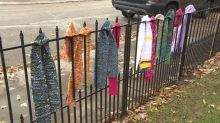Indiana family hangs warm clothing on 'blessing fence' for neighbors in need